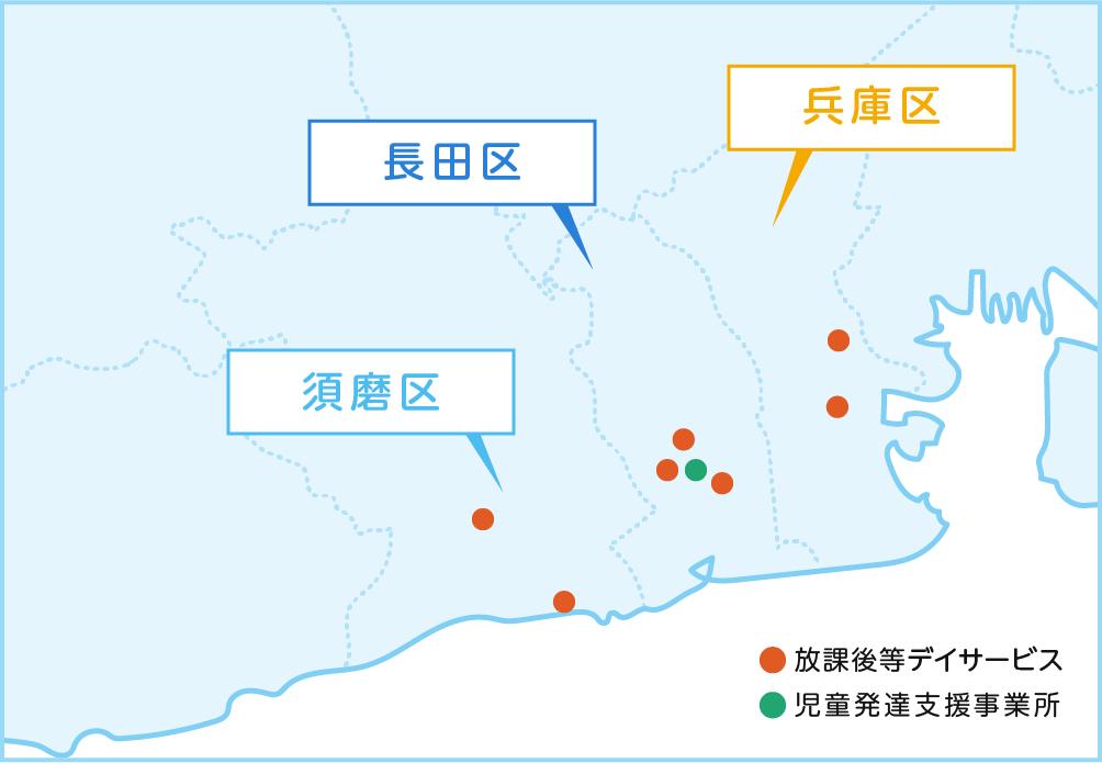教室の所在地マップ